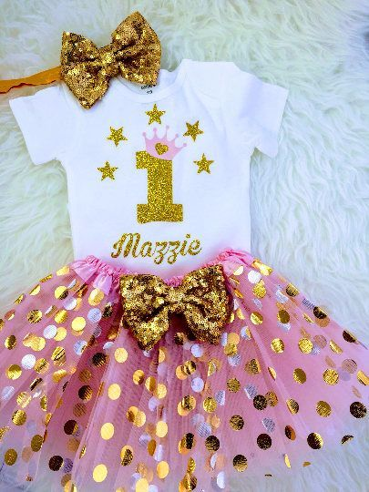 689370c9820a Baby Girls 1st Birthday Outfit