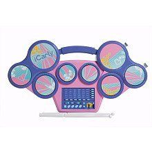 Icarly Electronic Drum Pad by First Act Entertainment. $71.00. 2 completely unique drum modes for either classic or electronic tones. 8 playable pads. Package includes a pair of drumsticks and a learning guide to get you started. 30 pre-programmed rhythms. 4 wild sound effects. Take your beats with you wherever you go! This Nickelodeon iCarly Electronic Drum Pad is rock ready, with 8 playable pads, 30 pre-programmed rhythms, 4 wild sound effects, and 2 complet...