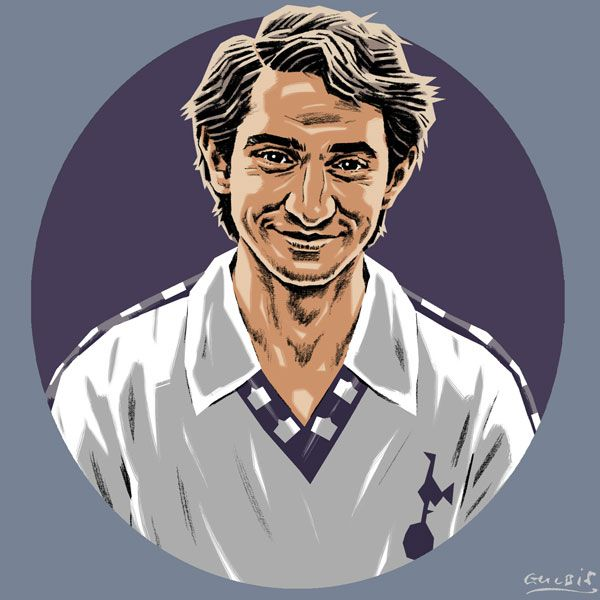 Ossie Ardiles (Spurs) https://www.etsy.com/uk/listing/219322029/spurs-greetings-cards?ref=shop_home_active_3