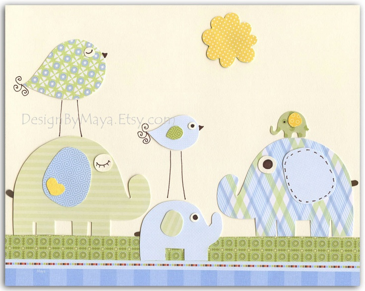 103 best my sis is having a baby boy images on pinterest for Kitchen cabinets lowes with bird nursery wall art