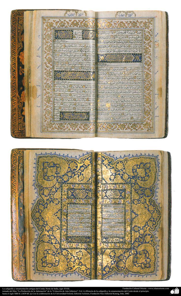 La caligrafía y ornamentación antigua del Corán; Norte de India, siglo XVIII. | Galería de Arte Islámico y Fotografía