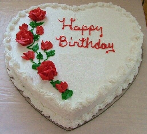 Cake Images And Names : Birthday heart cake Birthday greetings Pinterest ...