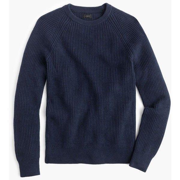 J.Crew Raglan-Sleeve Crewneck Sweater ($60) ❤ liked on Polyvore featuring men's fashion, men's clothing, men's sweaters, mens crew neck sweaters, j crew mens sweaters, men's crewneck sweaters, mens cardigan sweater and mens cotton crew neck sweaters
