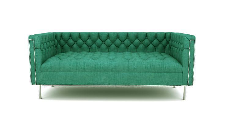 Rainforest Regal Sofa - Turquoise - SOFA - SOFA & SEATING