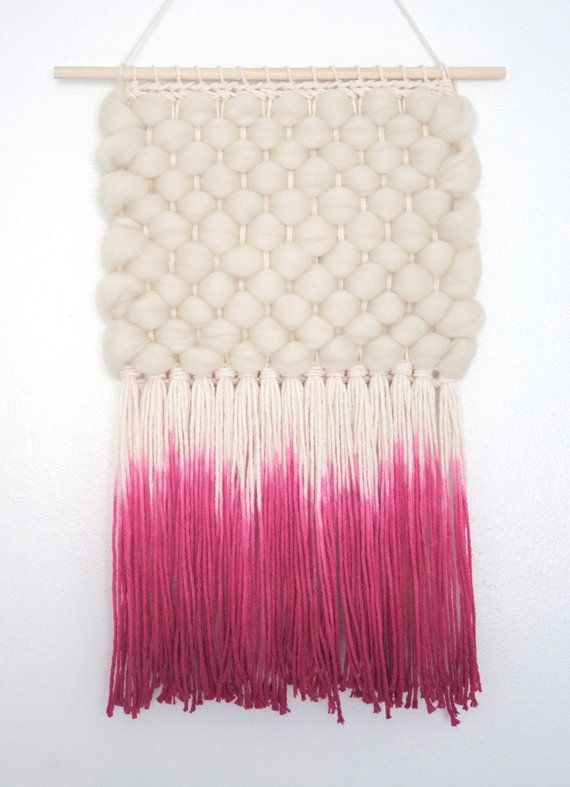 Dyed Textural Weaving | Hand Woven Wall Hanging by Melissa Washin