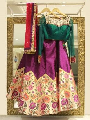 DCAA0205A-Pink-Silk-Lehenga-Choli-with-Handwork