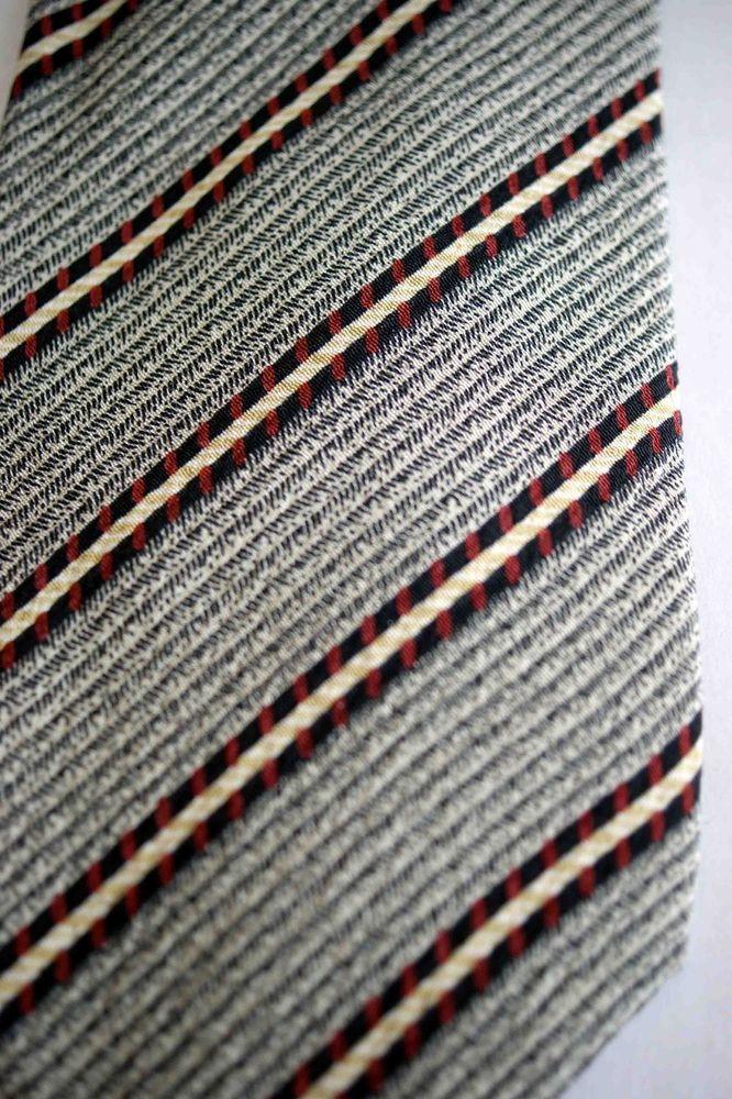 3dc611e07e4 GIORGIO ARMANI-ARMANI COLLEZIONI-ITALY- SILK DESIGNER TIE - TAUPE BLACK RED   fashion  clothing  shoes  accessories  mensaccessories  ties (ebay link)