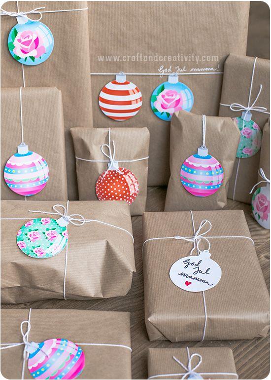 Printable Christmas Tags - by Craft & Creativity