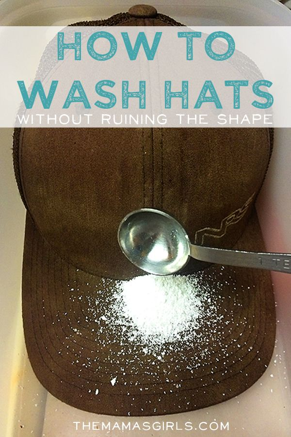 How to wash hats without ruining their shape.... This will definitely come in handy!