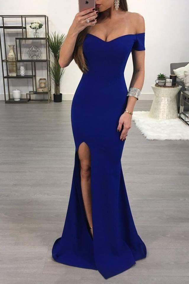 Pin De Abril Mendoza En Ropa Azul Rey En 2019 Vestidos