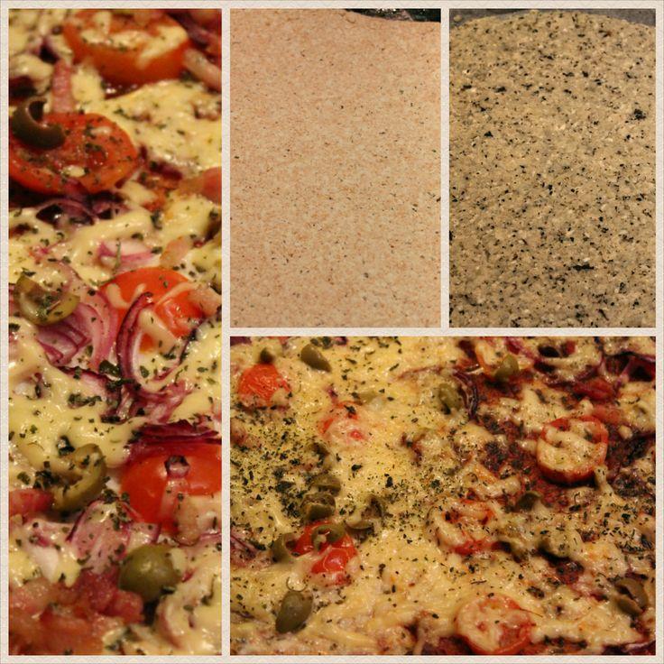 """Paleo pizza karfiolos """"tésztával""""."""