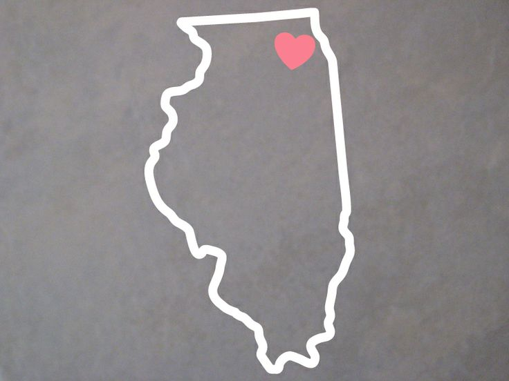 Illinois Outline Decal Window Decals Outline Illinois