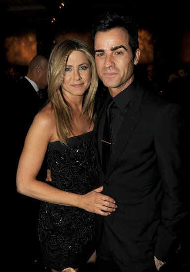 Jennifer Aniston and Justin Theroux on the red carpet in LA.