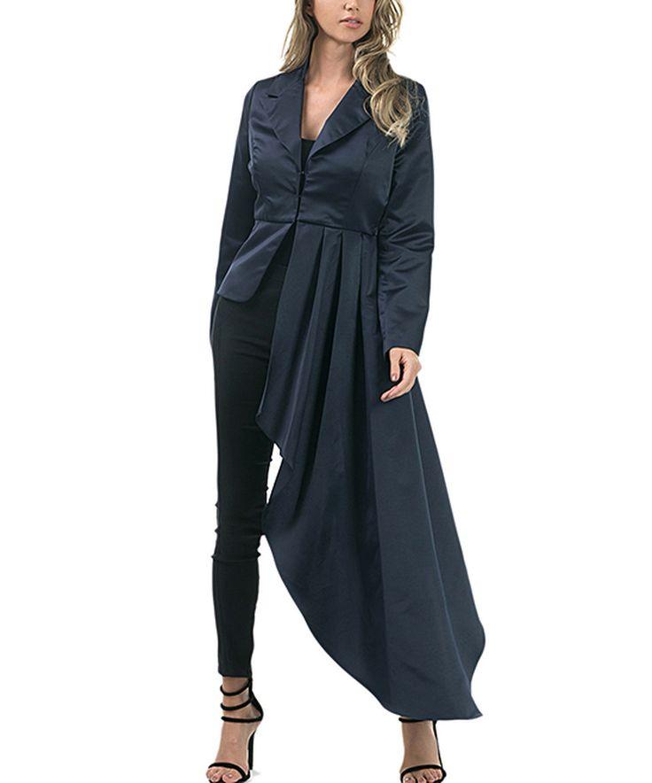 Another great find on #zulily! CQbyCQ Midnight Navy Asymmetrical Tuxedo Jacket by CQbyCQ #zulilyfinds
