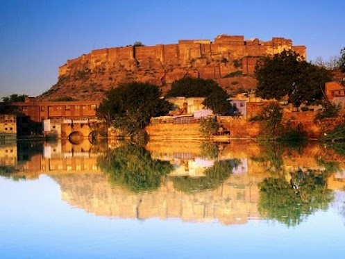 Jodhpur: Rajasthan India, Blue Desert, Mothers Earth, Sunsets India, Romantic Place, Reflections Sunsets, Earth ༡༦༡༨, Desert Cities, Forts Reflections