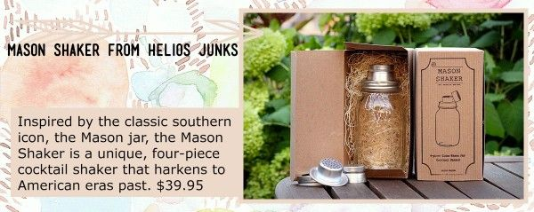 We Love Perth Christmas Gift Guide: Mason Jar Shaker from Helios Junks