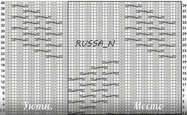 Шапка спицами 2017 - схема