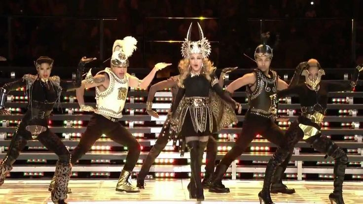 Madonna - Super Bowl Medley 2012 (HD) The most watched television event in TV History!114 MILLION VIEWERS!4 MILLION more than watched the SUPER BOWL itself!Everyone tuned in to see this bitch!ALL HAIL THE QUEEN!!