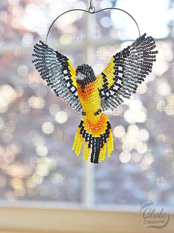 Baltimore Oriole C Ornament Bird Suncatcher Bird Lover Etsy Bird Ornaments Beaded Animals Bird Lover Gift