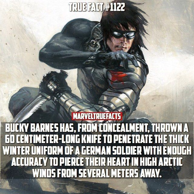 Bucky is a true badass.