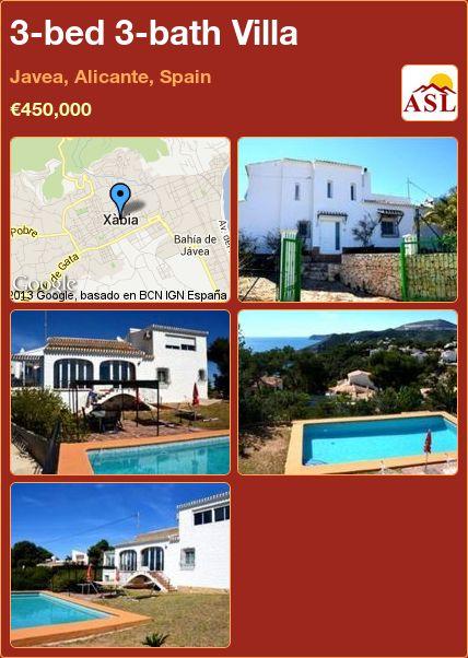 3-bed 3-bath Villa in Javea, Alicante, Spain ►€450,000 #PropertyForSaleInSpain