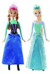 """Disney Princess - Kraina Lodu Frozen – Błyszcząca Anna / Elsa - produkt wybierany jest losowo Anna i Elsa — kochające się siostry z animowanego filmu Disneya pt. """"Kraina Lodu"""" uhonorowanego nagrodami Akademii Filmowej — absolutnie olśniewają w połyskujących strojach w swoich ulubionych kolorach.  #zabawki #KrainaLodu #Frozen #AnnaiElsa #lalki #sklepzzabawkami"""