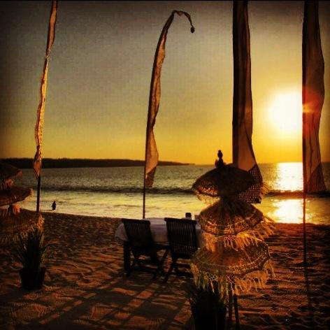 Dinner on the beach at Jimbaran Bay
