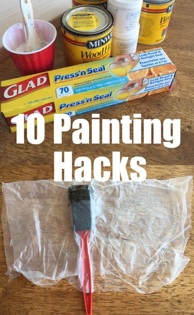10 Painting Hacks - the genius DIY painting hacks for the home will change your life! @gladproducts and @walmart make it easy! #pressnsealhacks #pmedia #ad