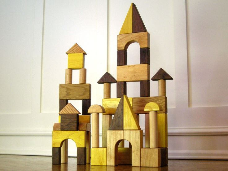 Wood Building Blocks / Wooden Blocks / Toy Blocks by WoodAndGlass
