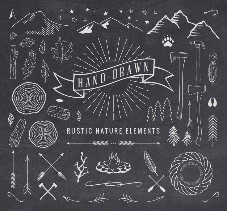 Hand-Drawn Rustic Elements