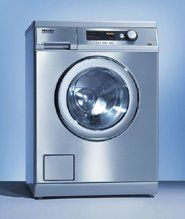 Miele Professional PW6065SS Little Giant Stainless Steel Laundry Washer Washing Machine Stackable, 15Lb 6.5Kg, 17Gal 2.3CF, 1400RPM, Energy Star Performance features Load capacity [lbs]: 15 Drum volume [gal]: 15.5 Spin speed [max. rpm]: 1400 g-factor: 526 Residual moisture [%]: 49. Electrical Connection 2 AC 208V 60Hz Fuse [A]: 20 Input [kW]: 4,0 Heating output [kW]: 3,8. Dimensions H/W/D [inch]: ... #Miele #MajorAppliances