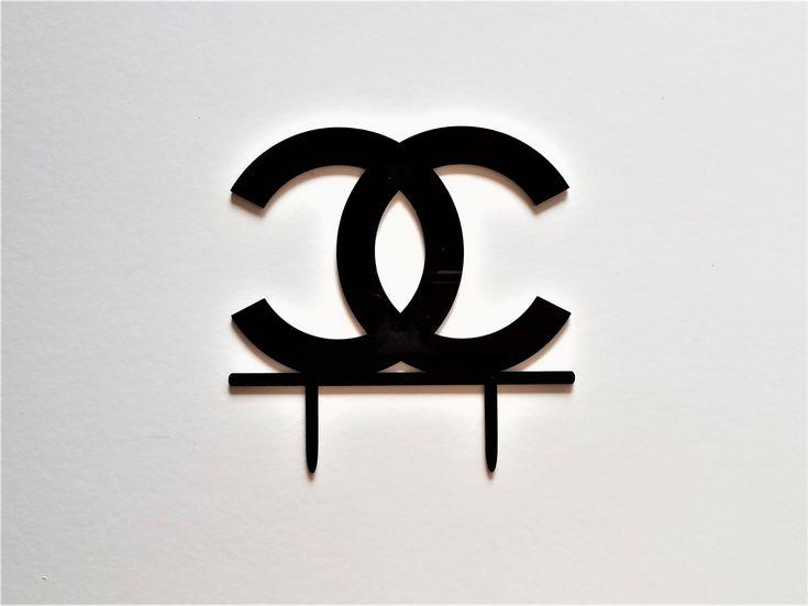 Coco Chanel Cake Topper #ChanelCakeTopper