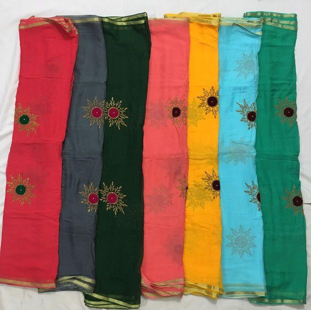 Pure Georgette Sarees With Blush Print   Buy Online Sarees   Elegant Fashion…