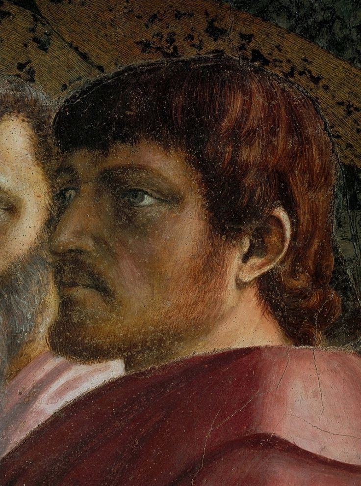 Мазаччо.Фома, деталь фрески.