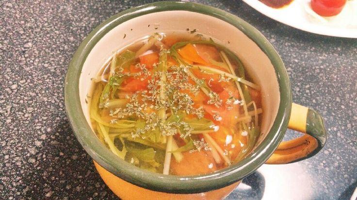 簡単*トマトコンソメスープ by *yknk* [クックパッド] 簡単おいしいみんなのレシピが220万品