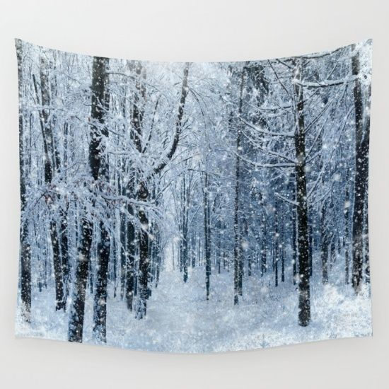 #winter #wonderland #scenery #walltapestry Available in different #giftideas products. Check more at society6.com/julianarw
