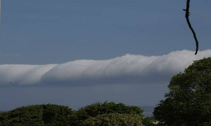First time rolling clouds spotted in ages in Durban