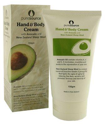 Sheepwool Hand&body Cream with Avocado  - Pure Source- 150g | Shop New Zealand