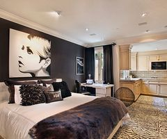 old hollywood themed bed room...love it