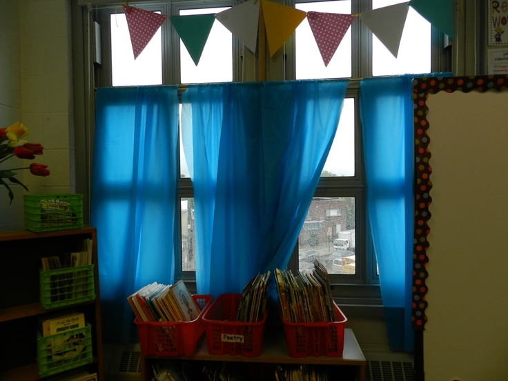 Curtains For My Classroom From Cheap Plastic Table Cloths