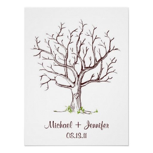 Wedding Fingerprint Tree Guestbook