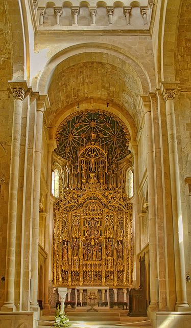 Coimbra: Sé Velha (Old Cathedral) - The Old Cathedral of Coimbra is recognized as the most important Romanesque Roman Catholic buildings in Portugal.