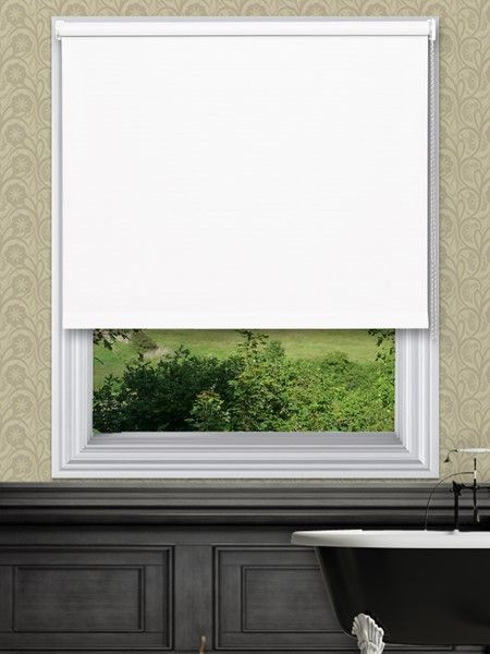 Unilux White Waterproof Blinds - Our Unilux Waterproof PVC Roller Blind fabric is available in 14 plain colours. The fabrics are very easy to wipe clean and are water and mould resistant.