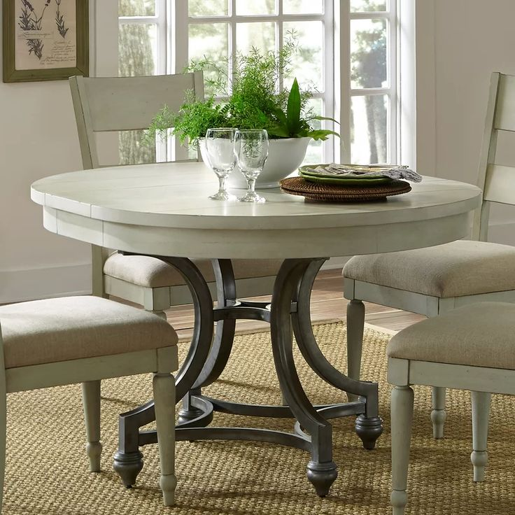 Saguenay Extendable Dining Table In 2019 Dining Table Round