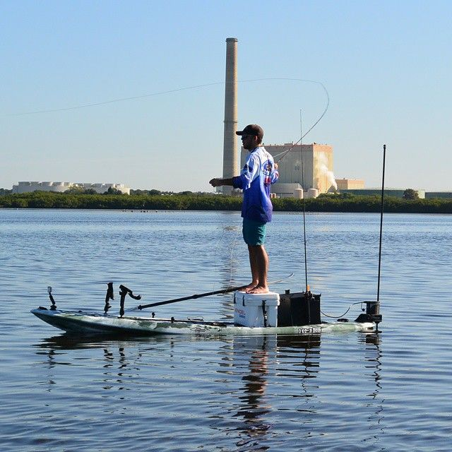 Preston fly fishing on the new kaku kahuna yakattack for Fishing paddle boat