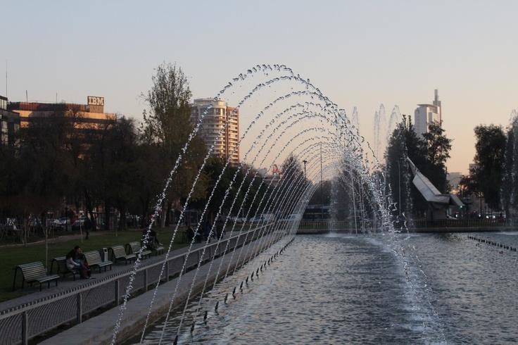 Fuente Bicentenario, Parque de la Aviación. Providencia. Santiago. Chile