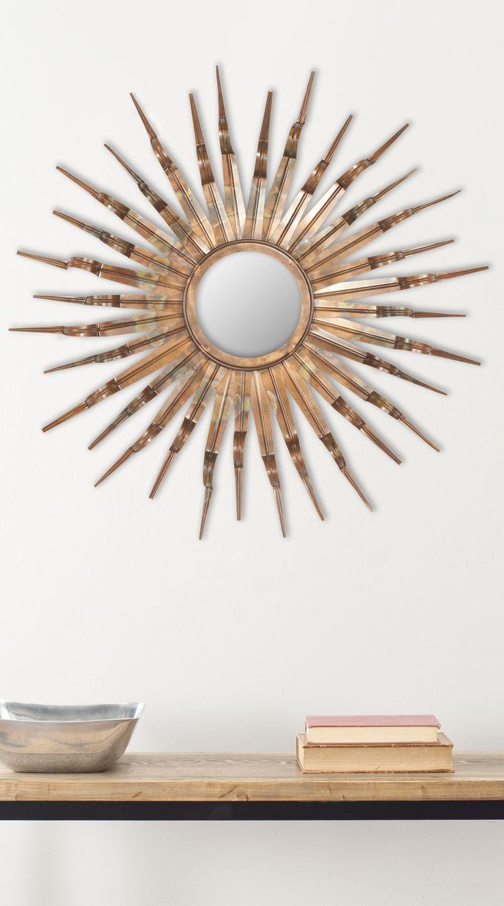 Sonnenspiegel mit Farbtönen aus Kupfer, Bronze und Gold
