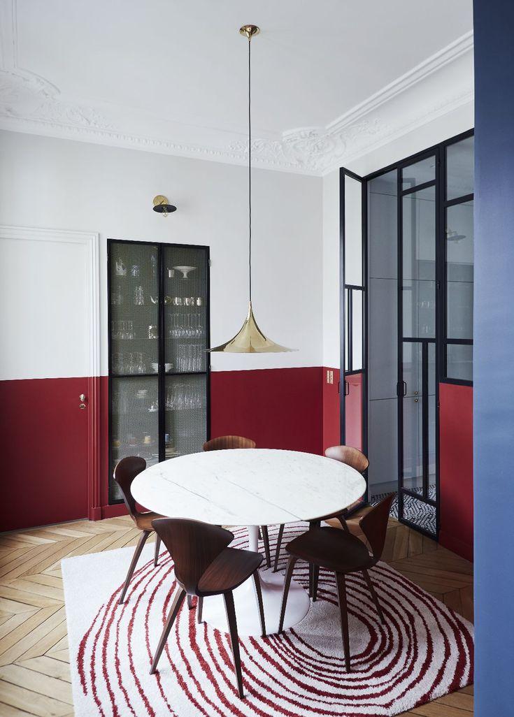 A unique parisian apartment colorful and elegant the design stash