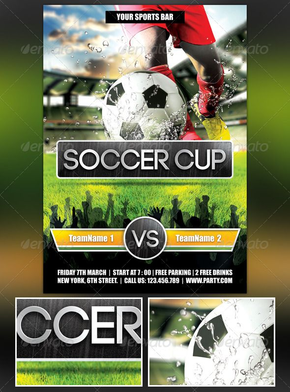 61 best Sports images on Pinterest Sports brands, Cheerleading - soccer flyer template