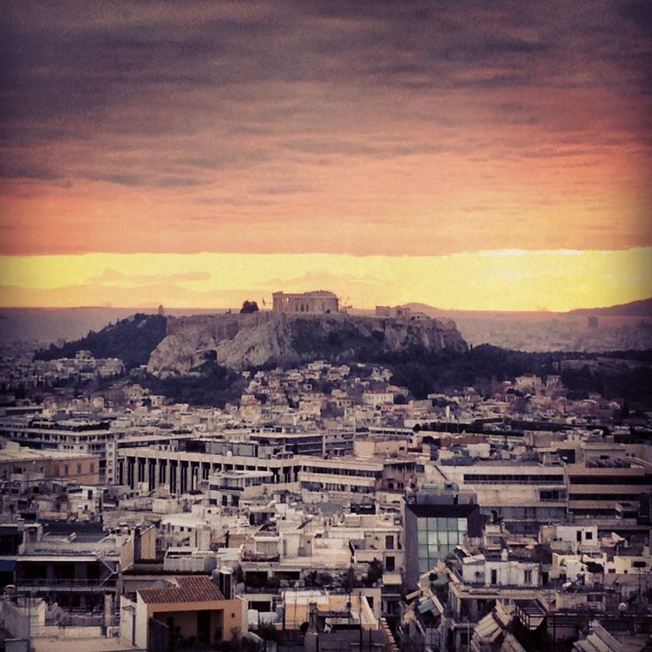 View of Acropolis from St. George Lycabettus hotel.